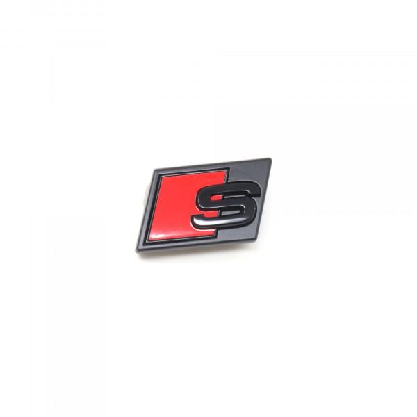 Audi e-tron S Schriftzug Schwarz Emblem Logo Kühlergrill 4KE071805 Vorne S Grill Original