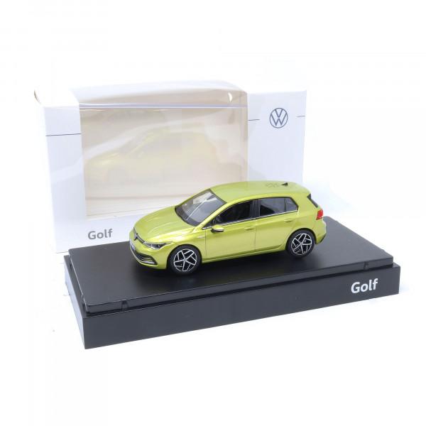 VW Golf 8 Limousine 1:43 Limonengelb Modellauto 5H0099300 10W Miniatur Norev Original