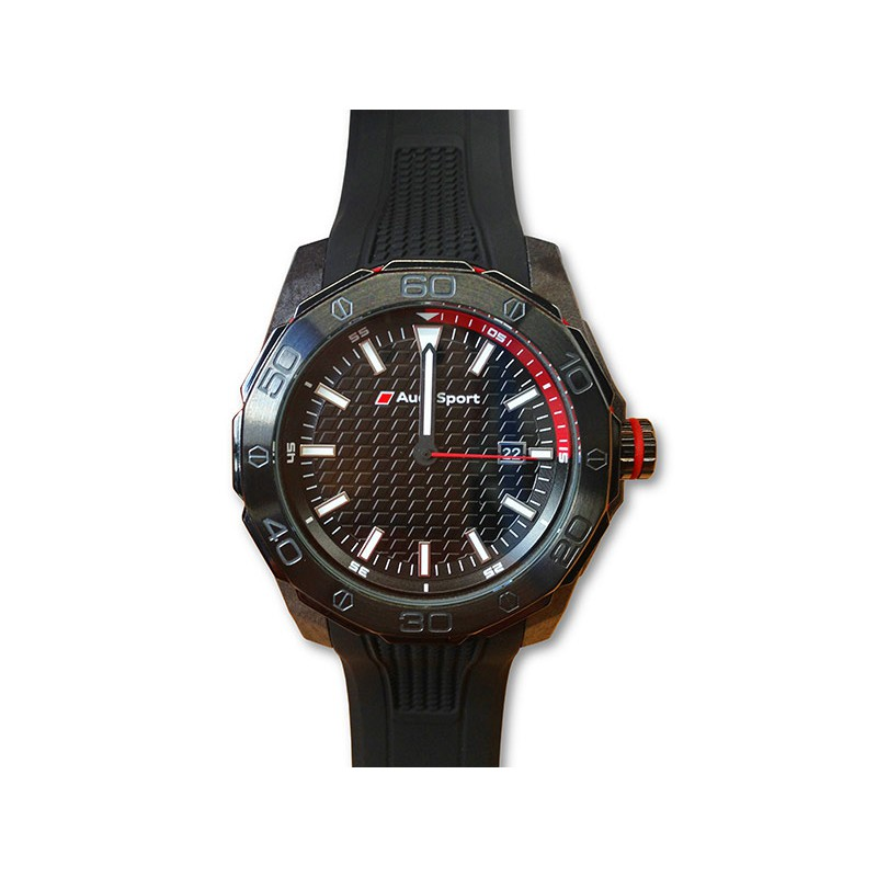 audi sport dreizeigeruhr uhr schwarz 3101600800 armbanduhr. Black Bedroom Furniture Sets. Home Design Ideas