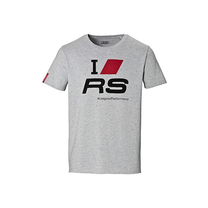 audi sport herren fan t shirt i love rs s m l xl xxl. Black Bedroom Furniture Sets. Home Design Ideas