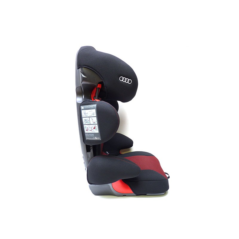 audi original kindersitz youngster plus 15 36 kg isofix misanorot schwarz gruppe 2 3 4l0019904e. Black Bedroom Furniture Sets. Home Design Ideas