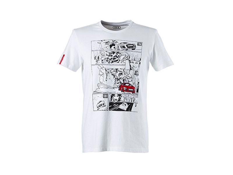 Audi Sport Herren T Shirt Comic Print 3131700102 6 S M L