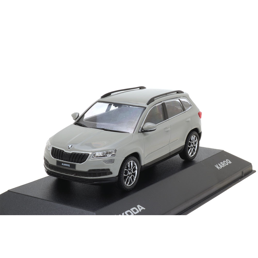 Skoda Karoq Modellauto Miniatur 1:43 Stahl-Grau MVF38-800 ...