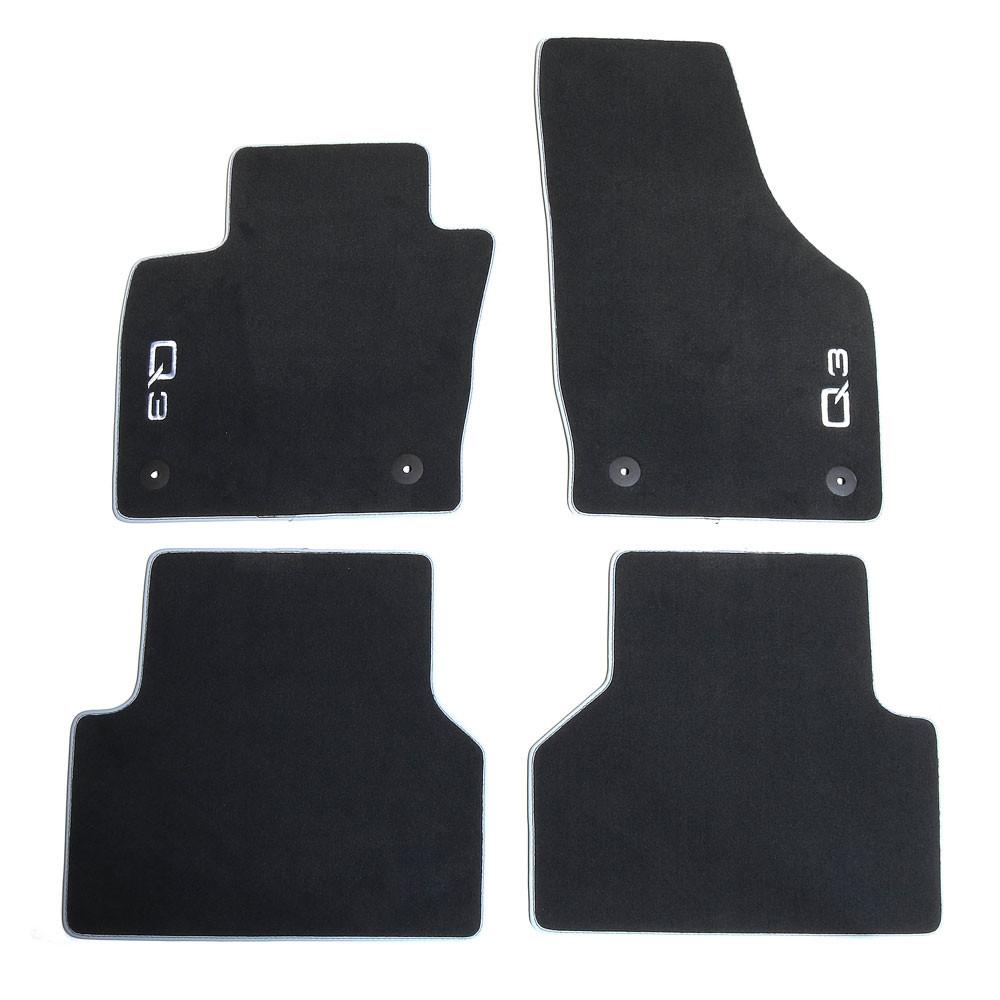 Velours Stoffmatten vorn hinten Satz Audi Q7 4L Textilfußmatten Premium 4 tlg