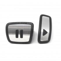 VW ID.3 ID.4 Aluminium Pedalkappen im Play & Pause Design Edelstahl Original