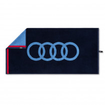 Audi Sport Handtuch 50x100cm Blau Duschtuch Towel Möwe 3132100300