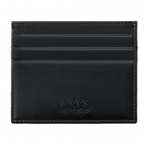 Audi Leder Kartenetui 3151900500 Schwarz RFID Rindsleder Kreditkartenetui Etui Original