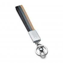 Audi Leder Schlüsselanhänger 3181900200 Anhänger key ring Schwarz Grau Beige NEU Original