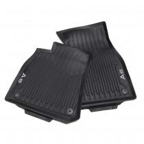 Audi A6 Allwetterfußmatten vorn 4K1061501 041 Gummimatten Gummi Fußmatten Matten Fussmatten Fußmatten