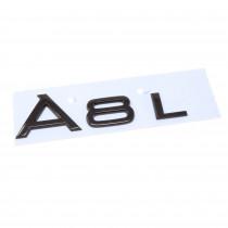 Audi A8L A8 L Schriftzug Schwarz Emblem Logo Hinten Heckklappe 4N0071803A Heck Original Black Edition