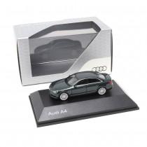 Audi A4 Limousine 1:87 Gotlandgrün 5011504122 Modellauto Miniatur Silber Herpa Original