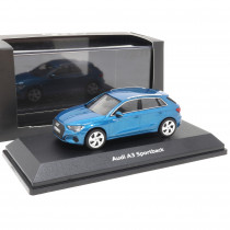 Audi A3 Sportback 1:43 Atollblau Modellauto 5011903031 iScale Blue Miniatur