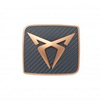 Seat Cupra Ateca Emblem hinten Carbon Kupfer Logo