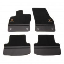 Cupra Ateca Premium Textilfußmatten 4 tlg. Fußmatten Satz Seat Schwarz Carbon Leder Original
