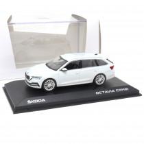 Skoda Octavia Combi A8 1:43 Moon White 5E7099300 S9R Modellauto Miniatur Original Neu