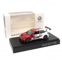 VW Golf GTI TCR 1:43 Modellauto 5GV099300E 645 Miniatur Rot Weiß Grau Original