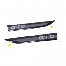 Original Golf 8 GTD Plaketten seitlich Kotflügel Logo Embleme Schwarz Grau 5H0853688B 5H0853688C UPJ