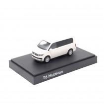 Modellauto VW T6 Transporter Candy-Weiß