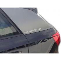 Audi Original Dekorfolie quattro Florettsilber 81A064317 Z7G Schriftzug Folie