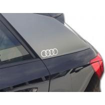 Audi Original Dekorfolie Audi Ringe Florettsilber 81B064317 Z7G Aufkleber Folie