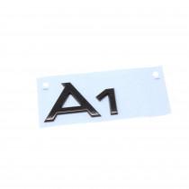 Audi A1 Schriftzug Schwarz Emblem Logo Hinten Heckklappe 82A071803 Schwarz Original Modellbezeichnung