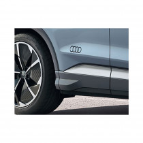 Original Audi Q4 e-tron Sportback Dekorfolien Audi Ringe Schwarz glänzend 89A064317 Y9B Brillantschwarz