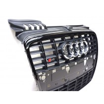 Audi Original S4 8E B7 Kühlergrill schwarz glänzend Frontgrill A4 RS4 Grill