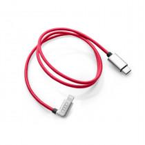 Ladekabel USB C auf Apple Lightning Audi Ladeadapter USB Kabel Rot 8S0051435L