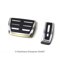 Audi A4 A5 Q5 Edelstahl Pedalkappen und Fußstütze