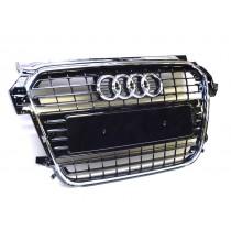 Audi Original A1 Kühlergrill 8X0853651 T94 schwarz glänzend Klavier Grill