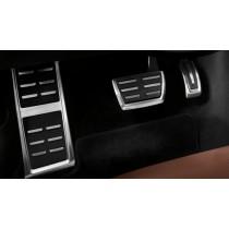 Audi Original A6 A7 4G Edelstahl Pedalkappen Fußstütze Set S tronic 4G1064205A