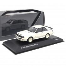 Audi Sport quattro Alpinweiß 1:43 Modellauto Klassiker Miniatur Modell Weiß 1984 Original Tradition