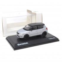 Skoda Fabia 2 RS 1:43 Modellauto Brillant Silber Miniatur 1/43 schwarzes Dach MVF55-808 Original