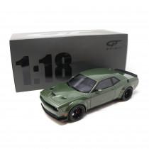 Dodge Challenger R/T Scat Pack Widebody 1:18 Modellauto Grün Green Miniatur 1/18 GT Spirit GT815