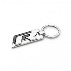 VW R Metall Schlüsselanhänger 15D087010 Anhänger Keyring Silber Schwarz Original