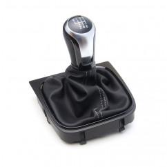 VW Leder Schaltknauf R line Aluminium Golf 5 6 Scirocco Jetta Eos Knauf Hebel Schaltmanschette Manschette