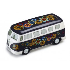 VW Original Bulli T1 Bus Keramik Spardose 211087709E Sparschwein Dunkelblau