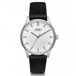 Audi Damen Uhr, silber/schwarz