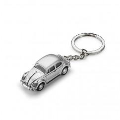 VW 3D Käfer Schlüsselanhänger 311087010 Anhänger Silber Zink 1:87 Key tag