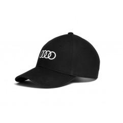 Audi Baseballcap schwarz 3131701000 Mütze Hut Kappe Cap Ringe