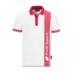 Audi Sport Herren Polo Shirt Weiß Rot