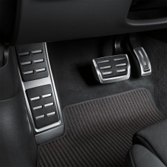 Audi A6 A7 4K Pedalkappen und Fußstütze in Edelstahl 4K1064205A Original