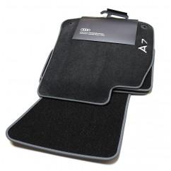 Audi A7 Sportback Textilfußmatten Premium vorn hinten Satz Fussmatten Stoffmatten Velours Zubehör