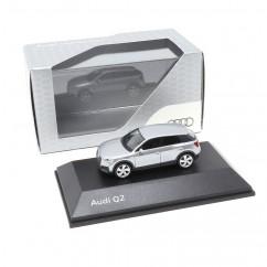 Audi Q2 1:87 Florettsilber 5011602621 Modellauto Miniatur Silber Herpa Original