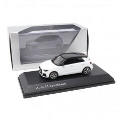 Audi A1 Sportback GB Gletscherweiß 1:43 Modellauto 5011801031 Miniatur Weiß Original iScale GmbH