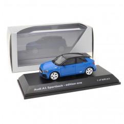 "Audi A1 Sportback ""edition one"" Turboblau 1:43 Modellauto 5011811031 Limitiert Miniatur"