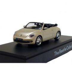 VW Beetle Cabriolet Moon Rock Silver 1:43 Modellauto
