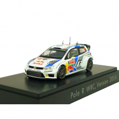 VW Polo R WRC 1:43 Nr. 9 Mikkelsen Markkula Version 2014