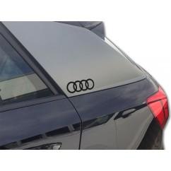 Audi Original Dekorfolie Audi Ringe Brillantschwarz 81B064317 Y9B Aufkleber Folie