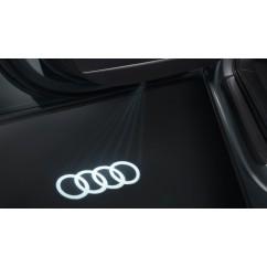 Audi LED Einstiegsleuchten Ringe 4G0052133G Türeinstiegsbeleuchtung